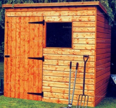 Shiplap Pent Shed 92 - T and G Floor and Roof