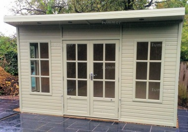 Pent Summerhouse 583 - Double Glazed, Georgian