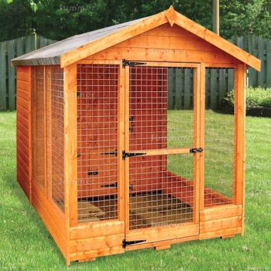 Shiplap Apex Roof Kennel and Run 195
