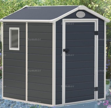 Steel Framed Plastic Shed 652 - Honeycomb Polypropylene Panels