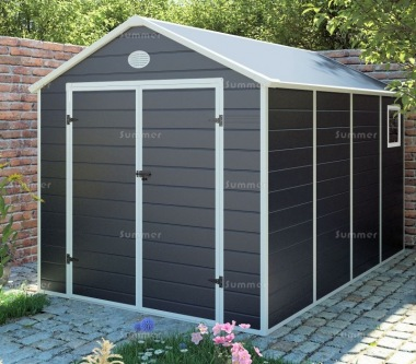 Steel Framed Plastic Shed 658 - 13mm Thick Polypropylene Panels