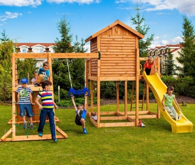 Platform Play Centre 332 - With Slide, Swing, Climbing Frame