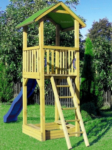 Tower Play Centre 204 - 4ft 9in High Platform With Slide