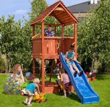 Tower Play Centre 398 - 3ft 9in High Platform With Slide