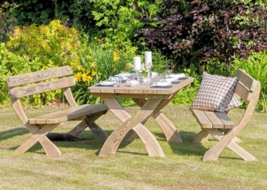 Pressure Treated 6 Seater Dining Set 870 - Benches