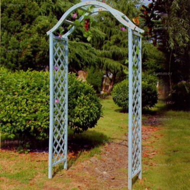 Garden Arch 49 - Grey Finish, Diamond Trellis