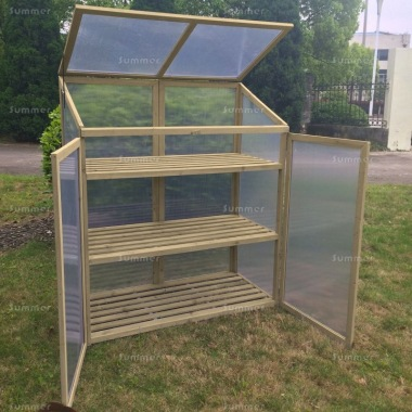 Growhouse 062 - Polycarbonate, 3 Shelves
