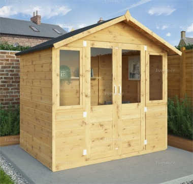 Apex Summerhouse 220 - Large Panes, Double Door