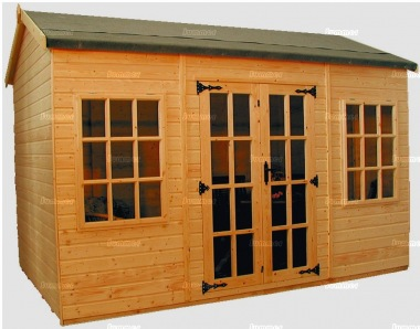 Side Door Apex Summerhouse 190 - Shiplap, Double Door