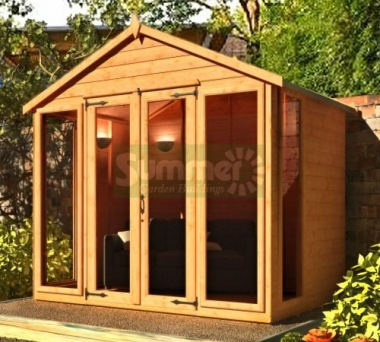 Apex Summerhouse 386 - Low Level Glazing, Double Door