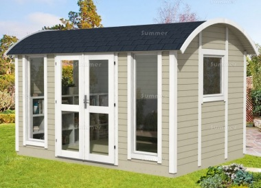 Curved Roof Summerhouse 979 - Double Glazed