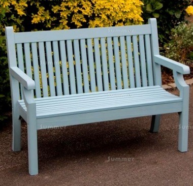 Synthetic Wood Bench 233 - Blue Finish, Maintenance Free