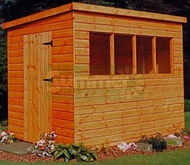 Shiplap Pent Shed 143 - T and G Floor and Roof