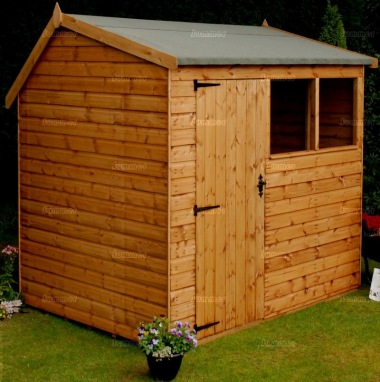 Side Door Apex Shiplap Shed 574 - All T and G