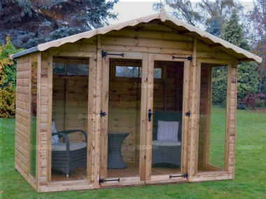 Apex Summerhouse 109 - Low Level Glazing, Double Door