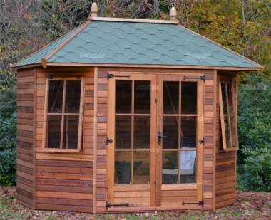 Bay Fronted Hipped Summerhouse 117 - Six Sided