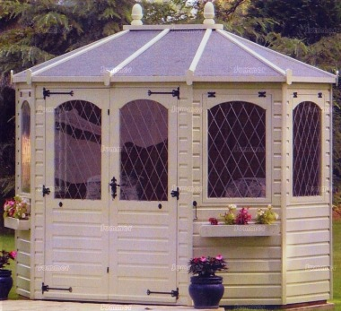 Leaded Octagonal Summerhouse 947 - Painted, Window Boxes