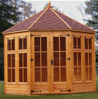 Georgian Octagonal Summerhouse 95 - Low Level Glazing