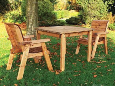 2 Seater Bistro Set 458 - Square Dining Table