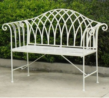 2 Seater Vintage Bench 630 - Wrought Iron, Antique Finish