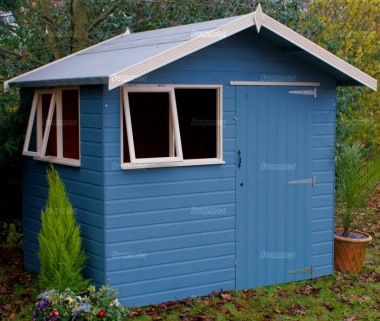 Shiplap Transverse Apex Shed 430 - Painted, Joinery Windows