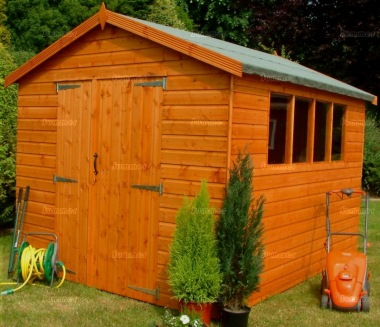 Shiplap Double Door Apex Shed 55 - All T and G