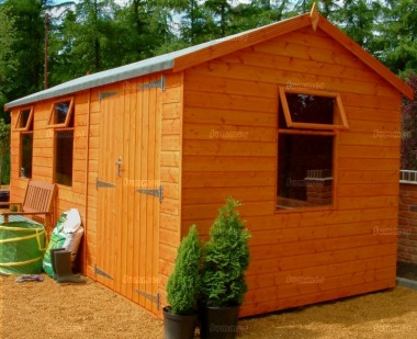 Side Door Apex Shiplap Shed 563 - Double Door Workshop