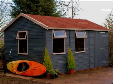 Shiplap Apex Shed 564 - Extra Tall Workshop, Painted