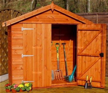 Shiplap Double Door Transverse Apex Shed 714 - All T and G