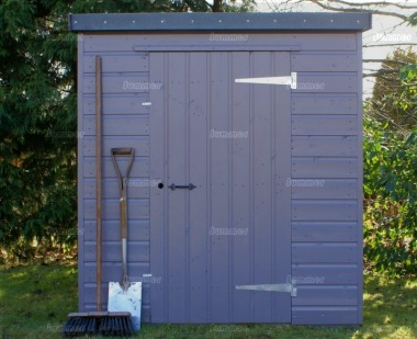 Shiplap Pent Roof Small Storage Shed 718 - All T and G, Painted