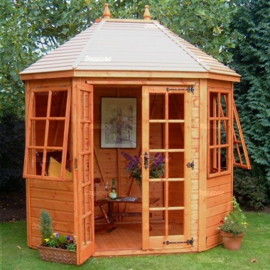 Georgian Octagonal Summerhouse 25 - Double Doors