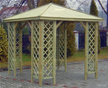 Gazebo 220 - Hipped, Pressure Treated, Trellis