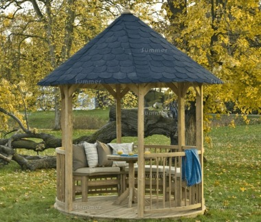 Wooden Gazebo 40 Round Roof Pressure Treated Timber