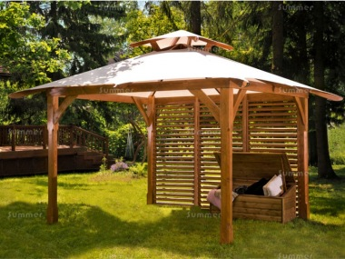 Wooden Gazebo 42 - Pressure Treated, Canvas Roof