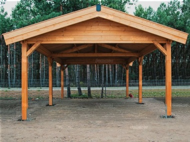 Wooden Gazebo 277 - Apex Roof, Felt Tiles