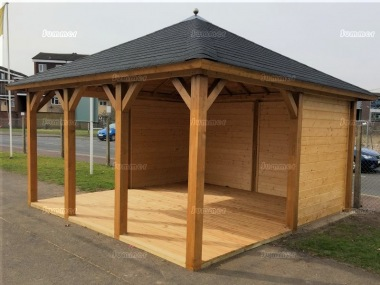 Wooden Gazebo 331 - Hipped Roof, Felt Tiles