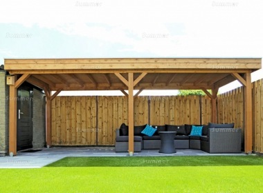 Wooden Gazebo 508 - Pent Roof