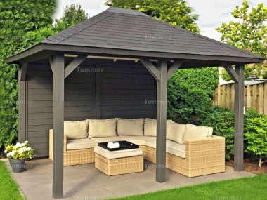 Wooden Gazebo 509 - Hipped Roof, Felt Tiles
