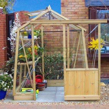 Pressure Treated Wooden Greenhouse 701 Toughened Glass