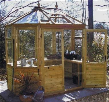 Octagonal Greenhouse 90 - Toughened Glass