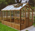 Thermowood Wooden Greenhouse 210 - Toughened Glass