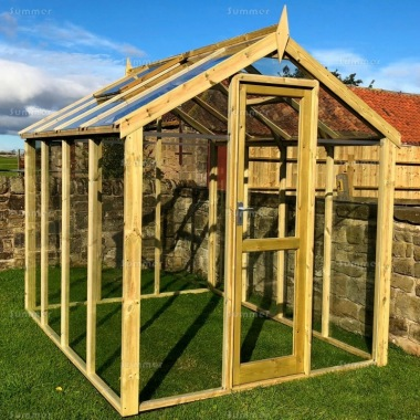 Pressure Treated Greenhouse 502 - Toughened Glass