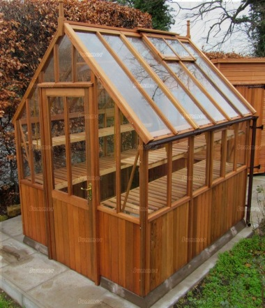 Cedar victorian greenhouse 591 part boarded hinged door for Victorian style greenhouse