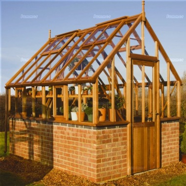 Dwarf Wall Cedar Victorian Greenhouse 593 Steep Roof