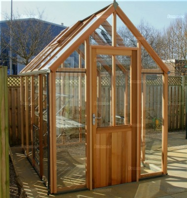 Cedar Victorian Greenhouse 653 - Steep Roof, Glass To Ground