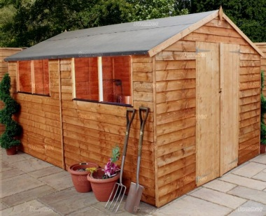 Overlap Double Door Apex Shed 271