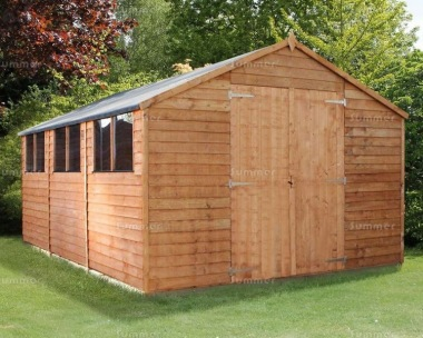 Overlap Double Door Apex Shed 273