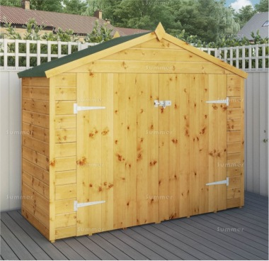 Shiplap Double Door Transverse Apex Shed 284