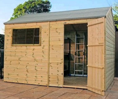 Pressure Treated Side Door Apex Shed 315