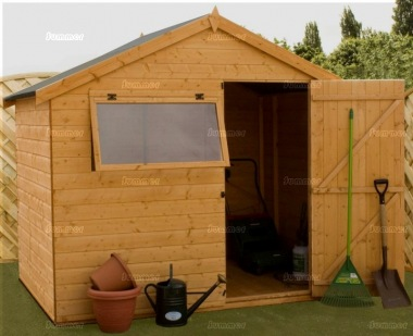 Pressure Treated Transverse Apex Shed 356 - Shiplap, Offset Apex